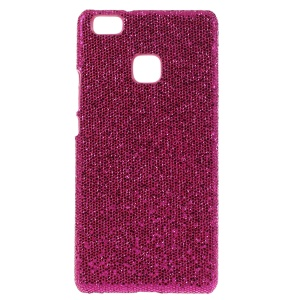 Glitter Sequins Leather Coated Hard Cover for Huawei P9 Lite / G9 Lite - Rose