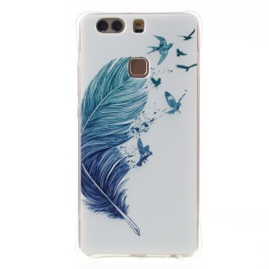 Soft TPU Air Cushion Drop Protection Cover for Huawei P9 Plus - Feather Birds