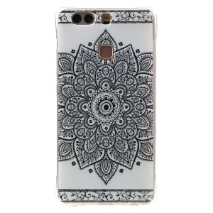 Air Cushion TPU Drop Protection Cover for Huawei P9 Plus - Mandala Flower