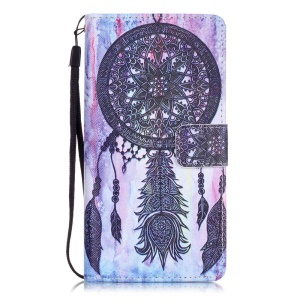 Patterned Leather Wallet Case for Huawei P9 Lite - Black Dream Catcher