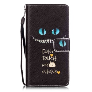 Patterned Leather Wallet Case for Huawei P9 Lite - Do not Touch My Phone
