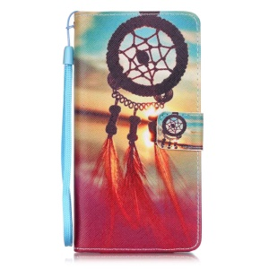 Patterned Leather Wallet Case for Huawei P9 Lite - Dream Catcher & Sunset