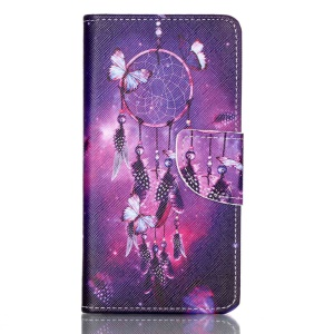 Cross Pattern Leather Stand Cover with Card Slots for Huawei P9 - Dream Catcher