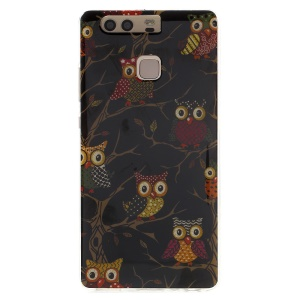 Patterned TPU Protective Case for Huawei P9 - Owls on the Branches