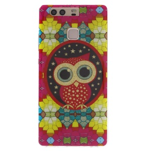 Patterned TPU Phone Cover for Huawei P9 -  Adorable Owl and Star