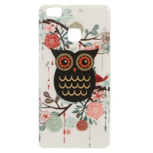 Patterned TPU Gel Cover for Huawei P9 Lite / G9 Lite - Owl and Flower
