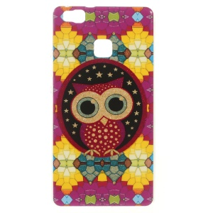 Patterned TPU Gel Shell for Huawei P9 Lite / G9 Lite - Cute Owl and Stars