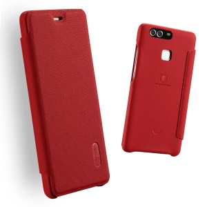 LENUO Ledream Series Leather Cover for Huawei P9 Plus - Red