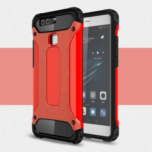 Cool Armor Hybrid PC + TPU Phone Case for Huawei P9 - Red