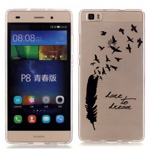 High Transparent IMD Skin & TPU Cover for Huawei Ascend P8 Lite - Dare to Dream