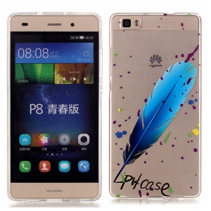 High Transparent Soft TPU & IMD Skin Shell for Huawei Ascend P8 Lite -  Feather and Graffiti