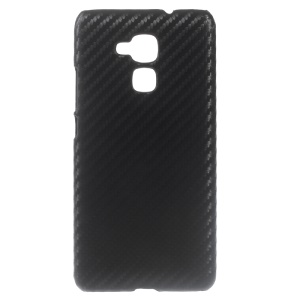 Carbon Fibre Leather Coated Hard Cover for Huawei Honor 5c - Black