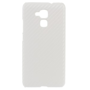 Carbon Fibre Leather Coated Hard Cover for Huawei Honor 5c - White