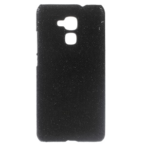 Glitter Sequins Leather Coated Hard Cover for Huawei Honor 5c - Black