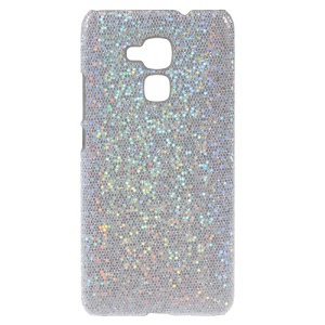 Glitter Sequins Leather Coated Hard Cover for Huawei Honor 5c - Silver