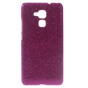 Glitter Sequins Leather Coated Hard Cover for Huawei Honor 5c - Rose