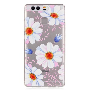 Embossment TPU Gel Case for Huawei P9 - Daisy Flowers