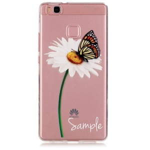 Embossed TPU Gel Case for Huawei P9 Lite - Daisy and Butterfly