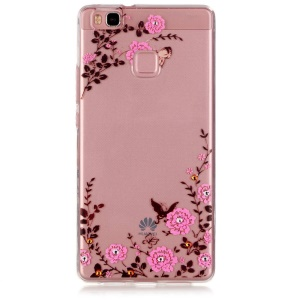 Embossed TPU Gel Cover for Huawei P9 Lite - Pretty Floret