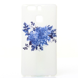 Soft IMD TPU Case Shell for Huawei P9 - Blue Flowers