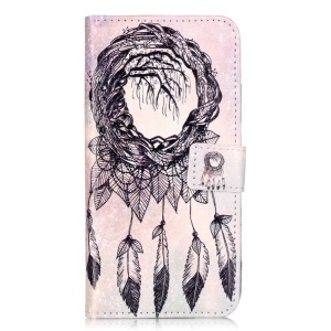 Embossed Leather Card Holder Case for Huawei Honor 5c - Dream Catcher