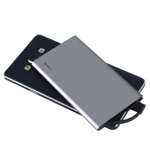 BENKS Rapid Series Ultra Thin Mobile Power Bank 4000mAh with Micro USB Cable (E400A) - Grey