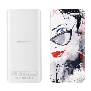 HOCO B1 Color Printed 10000mAh Dual Port USB Power Bank for iPhone Samsung - Girl Wearing Glasses