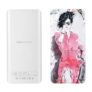 HOCO B1 Color Printed 10000mAh Dual Port USB Power Bank for iPhone Samsung - Modern Lady