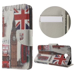Patterned PU Leather Case for Huawei Y5II - Union Jack and London Big Ben