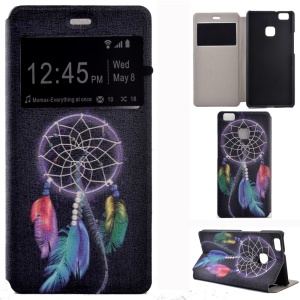 Fragrant Window Leather Phone Shell for Huawei P9 Lite/G9 Lite - Dream Catcher