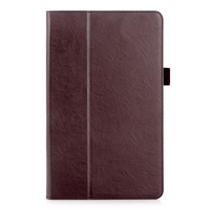 Card Holder Stand Leather Case for Huawei MediaPad T2 10.0 Pro - Brown