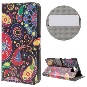 Stylish Patterned Leather Wallet Stand Case for Huawei Y5II - Paisley Pattern