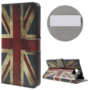 Stylish Patterned Wallet Stand Leather Shell for Huawei Y5II - Vintage UK Flag