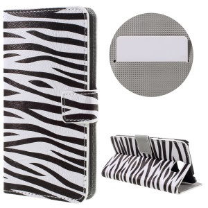 Stylish Illustration Leather Protective Cover for Huawei Y5II - Zebra Stripe