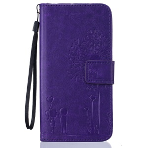 Dandelion and Lovers Leather Phone Cover for Huawei Honor 5X - Purple