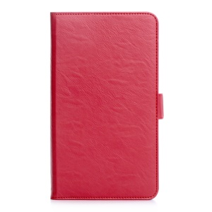Leather Card Holder Shell for Huawei MediaPad M2 7.0 - Red