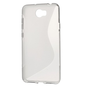 S Shape TPU Cover Case for Huawei Y5II / Y5 II - Grey