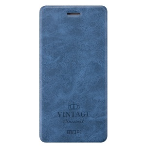 MOFI Leather Card Holder Stand Phone Case for Huawei P9 Plus - Blue