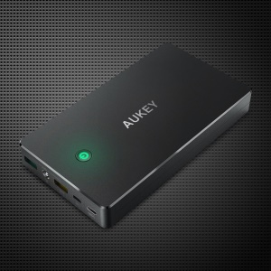 AUKEY PB-Y1 Quick Charge 2.0 20000mAh Portable Power Bank with Micro USB & Type-c Port