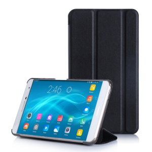 Flip Stand PC + PU Leather Case for Huawei MediaPad M2 7.0 - Black