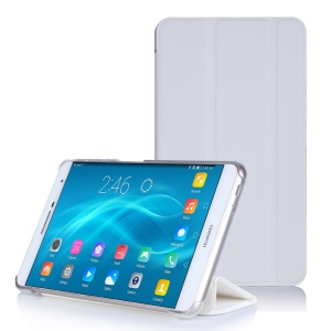 Flip Stand PC + PU Leather Cover for Huawei MediaPad M2 7.0 - White