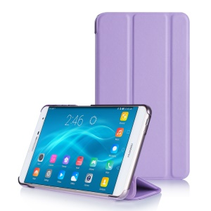 Flip Stand PC + PU Leather Phone Shell for Huawei MediaPad M2 7.0 - Purple