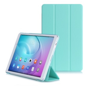 Slim Tri-fold Leather Stand Shell Cover for Huawei MediaPad T2 10.0 Pro - Green