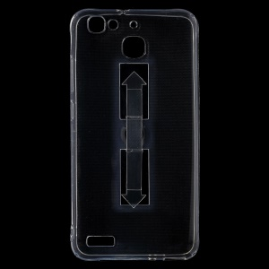 Ring Kickstand Clear TPU Back Case for Huawei Enjoy 5s / GR3
