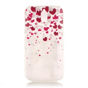 Transparent IMD TPU Back Shell for Huawei Y625 - Hearts