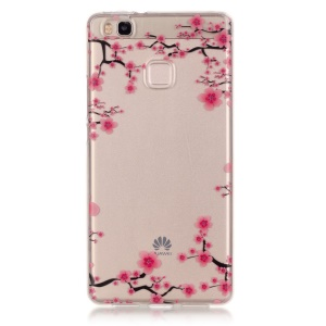 IMD Clear TPU Phone Cover for Huawei P9 Lite / G9 Lite - Plum Blossom