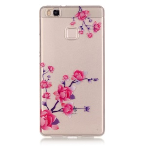 IMD Back Cover Clear TPU Case for Huawei P9 Lite / G9 Lite - Blooming Flowers