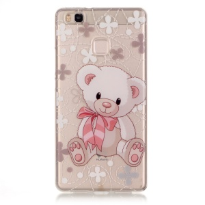 IMD Back Cover Clear TPU Cover for Huawei P9 Lite / G9 Lite - Adorable Bear