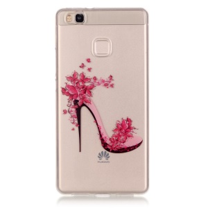 IMD Clear TPU Skin Cover for Huawei P9 Lite / G9 Lite - High-heeled Shoes