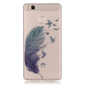 Clear IMD TPU Flexible Case for Huawei P9 Lite / G9 Lite - Flying Birds and Feather